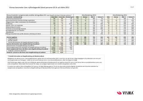Vismas rapport över nyföretagandet bland seniorer 2012