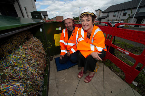 Angela Constance MSP connects with high-speed broadband