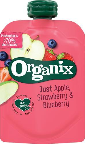 Organix lanserar ny barnmatsförpackning av växtbaserat material.