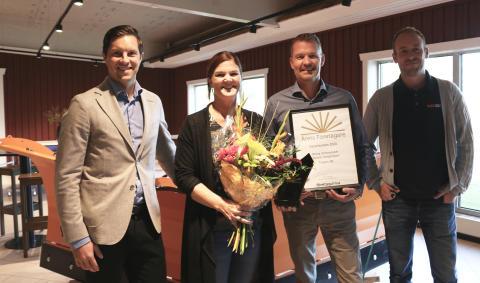 Anna och Henrik Johansson blev Årets företagare i Västerbotten