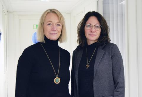 Carina Nilsson och Päivi Juuso, forskare inom omvårdnad vid Luleå tekniska universitet.