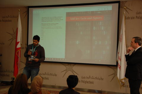 Presentation practice at the Bahrain Polytechnic