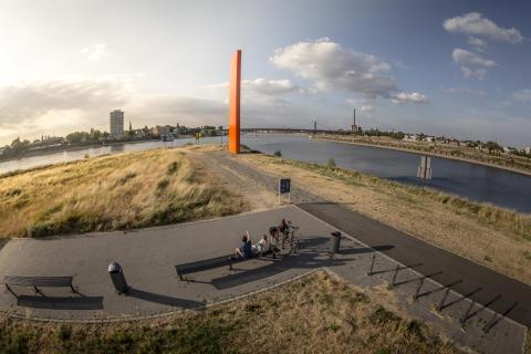 Zielpunkt Rheinorange in Duisburg ©RuhrtalRadweg