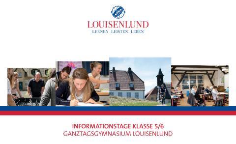 Einladungskarte Informationstage Klasse 5/6 Ganztagsgymnasium Louisenlund