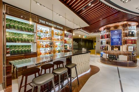 The Whiskey House at Singapore Changi Airport's Terminal 2 Wines & Spirits Duplex