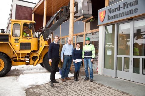 Per Hellevik Carlsson, Olav Røssum, Ingrid Slettmoen og Åge Rødde