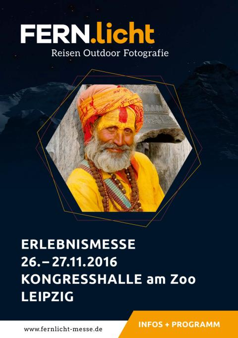 Programmheft der FERN.licht Erlebnismesse 2016 in Leipzig
