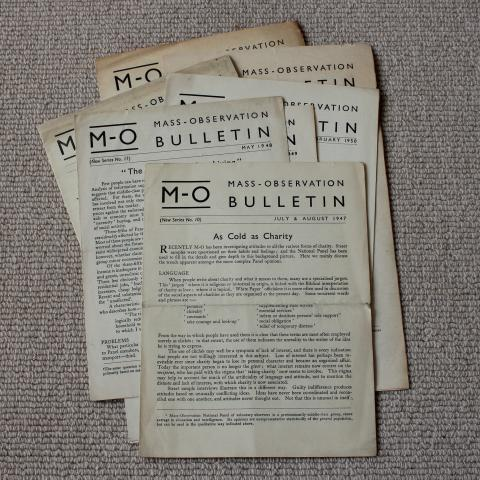 A selection of Mass Observation Bulletins from the 1940s and 1950s