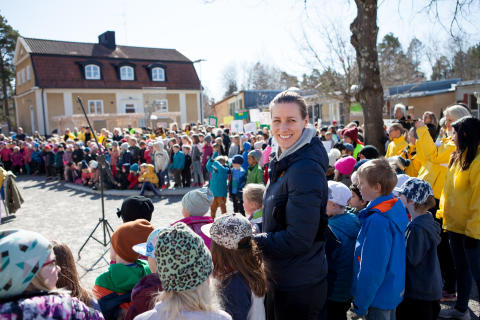 Olympiern Danijela Rundqvist är ambassadör för Jorden Runt-loppet.