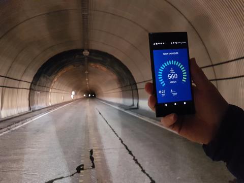 Telia testet hastighet: verdensrekord i tunnel