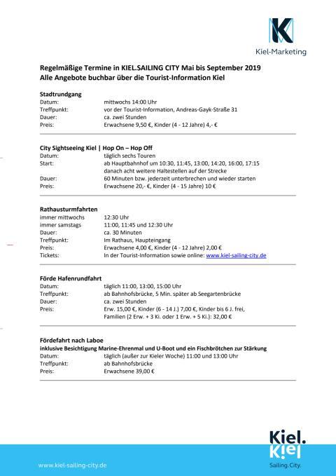 Regelmäßige Termine in Kiel