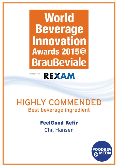 World Beverage Innovation FeelGood Kefir