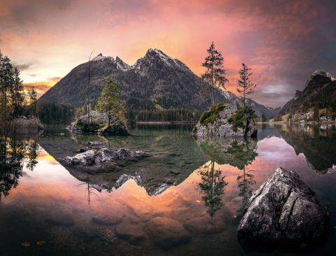 4 PR Lake Hintersee Sunrise Vignette