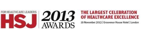 Finegreen at the HSJ Awards 2013
