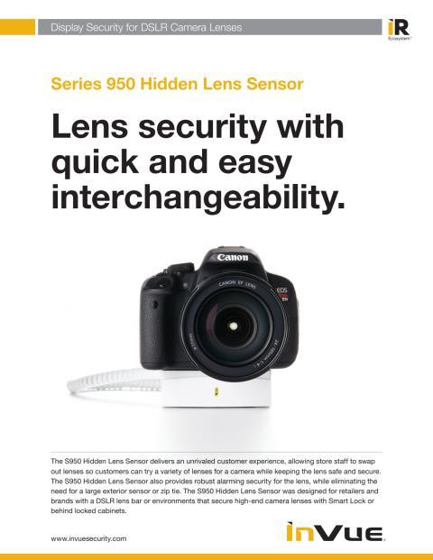 Varularm från Gate Security - InVue Series 950, Hidden Lens Sensor