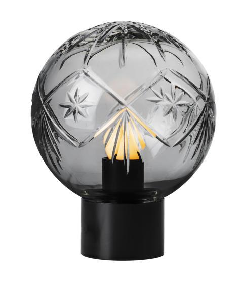 Bordlampe med Finn-mønster i røykgrå