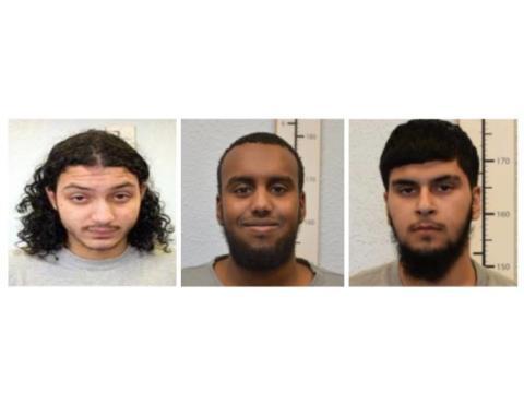 Three men convicted of terrorism offences