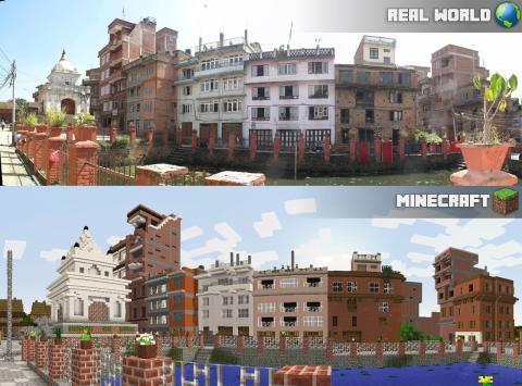 Minecraftgestaltning av Kiripitur, Nepal