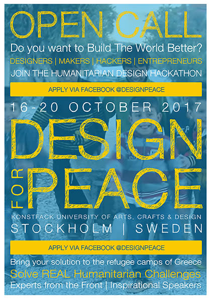 Design for Peace at Konstfack addresses current humanitarian challenges
