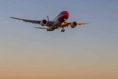 Norwegian's 787 Dreamliner. Foto: David Charles Peacock