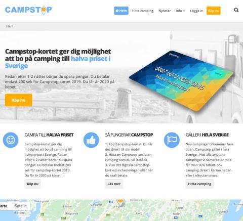 Ny tjänst visar upp Sveriges campingar