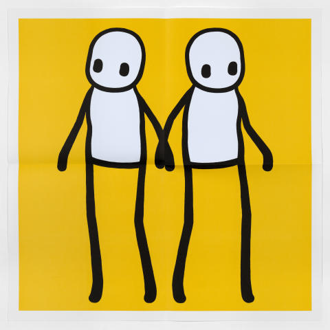 STIK - Holding Hands Poster (Yellow)