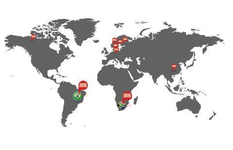 DEFA expanderar till Sydafrika och Brasilien.