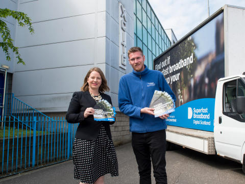 Digital Scotland Superfast Broadband celebrates fibre broadband availability across West Lothian