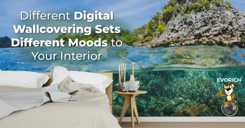 Different Digital Wallcovering Sets Different Moods to Your Interior