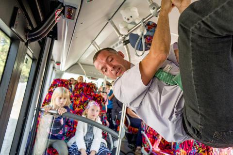 Britzer Abc-Schützen trainieren Busfahren