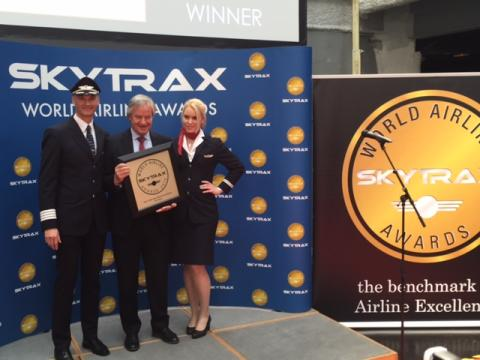 "CEO Bjorn Kjos receives SkyTrax Award for ""Best Low-Cost Airline in Europe"""