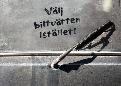Tvätta bilen miljöklokt – välj biltvätten istället