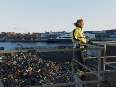 Utsikt fra Kullkranpiren over Nyhavna