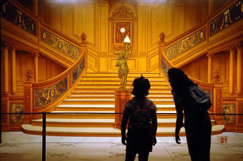 Titanic_Utställningen_huvudtrappan