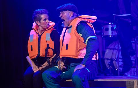Fra '24 timer Musicals' i 2018 på Bremen Teater. Ulla Ankerstjerne og Lars Bom.