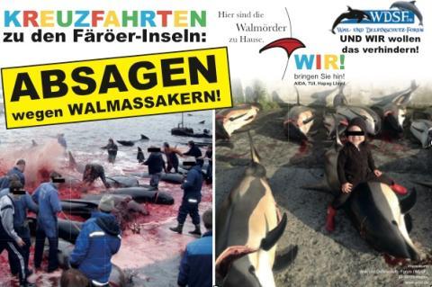 Profitänzerin Motsi Mabuse mit Kreuzfahrtschiff auf den Färöer-Inseln - Walschützer protestieren