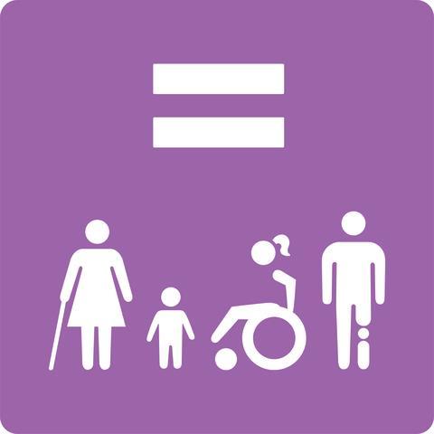 Canon trycker rättighetsikoner som ska lyfta funktionshinderfrågorna