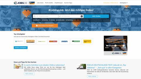 """FOCUS DEUTSCHLAND TEST """"Beste Jobbörsen"""":  Jobs.de ist erneut """"Top Jobbörse"""" und Kategoriesieger als """"Beste Internetseite"""""""