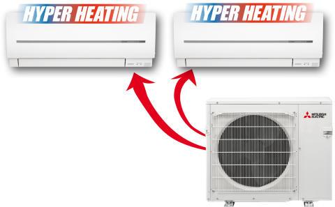 Mitsubishi Electric lanserar värmepump med avancerad värmeteknik.