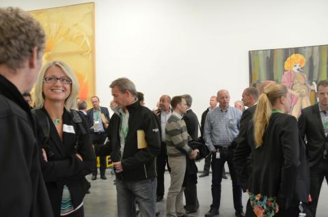NegaWatt 2013: Det var tydelig at årets foredragsholdere inspirerte! Praten gikk høylytt blant den moderne kunsten på Astrup Fearnley museet