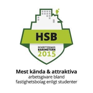 HSB mest attraktiva och kända fastighetsbolag enligt Rekryteringsbarometern