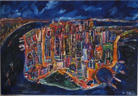 Manhattan at night, D.Ralfs