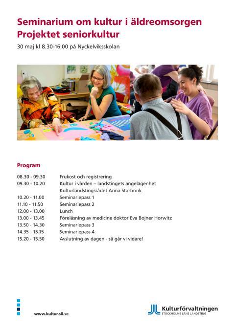 Seminarium Seniorkultur - programblad
