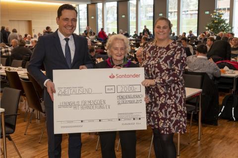Investitionen für die Integration - Santander Select spendet an Lebenshilfe für Menschen mit Behinderung e.V.