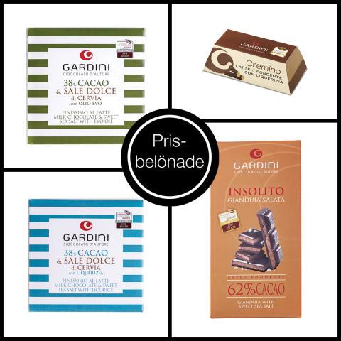 Gardini vinner åtta priser för sin choklad på International Chocolate Awards