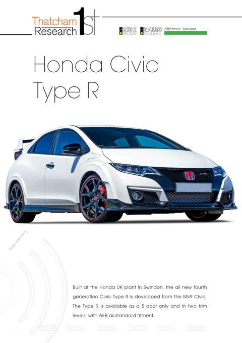 Thatcham 1st : Honda Civic Type-R