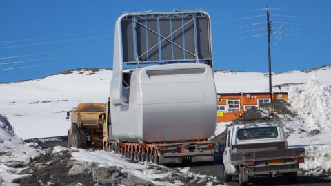 Første turbin opp til Roan vindpark