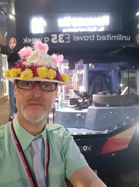Go North East key worker helping spread Easter weekend cheer