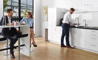 Lækkert vand med brus til Region Sjællands nye IT-afdeling