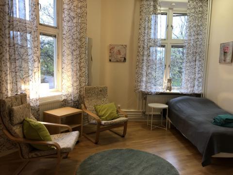 Ett av rummen i Skyddsvärnets nya halvvägshus för kvinnor
